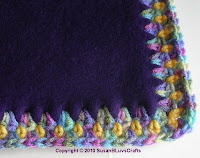 crochet edging on fleece