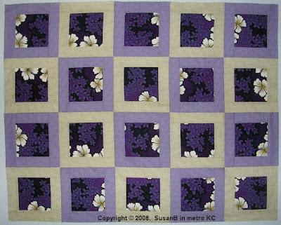 Framed Purple Floral quilt