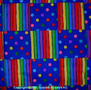 rainbow squares quilt top