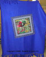 fleece decorated with pillow panel cut out