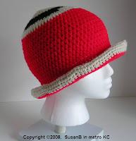 crochet hat - side view