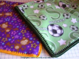 fleece blankets with crochet edging