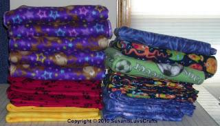 fleece folded neatly