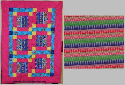 Wonky Block quilt - Debby