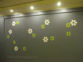 دهان و ديكور لحائط مع رسم بسيط
