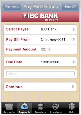 Banca Móvil por Iphone - Pago de Cuentas