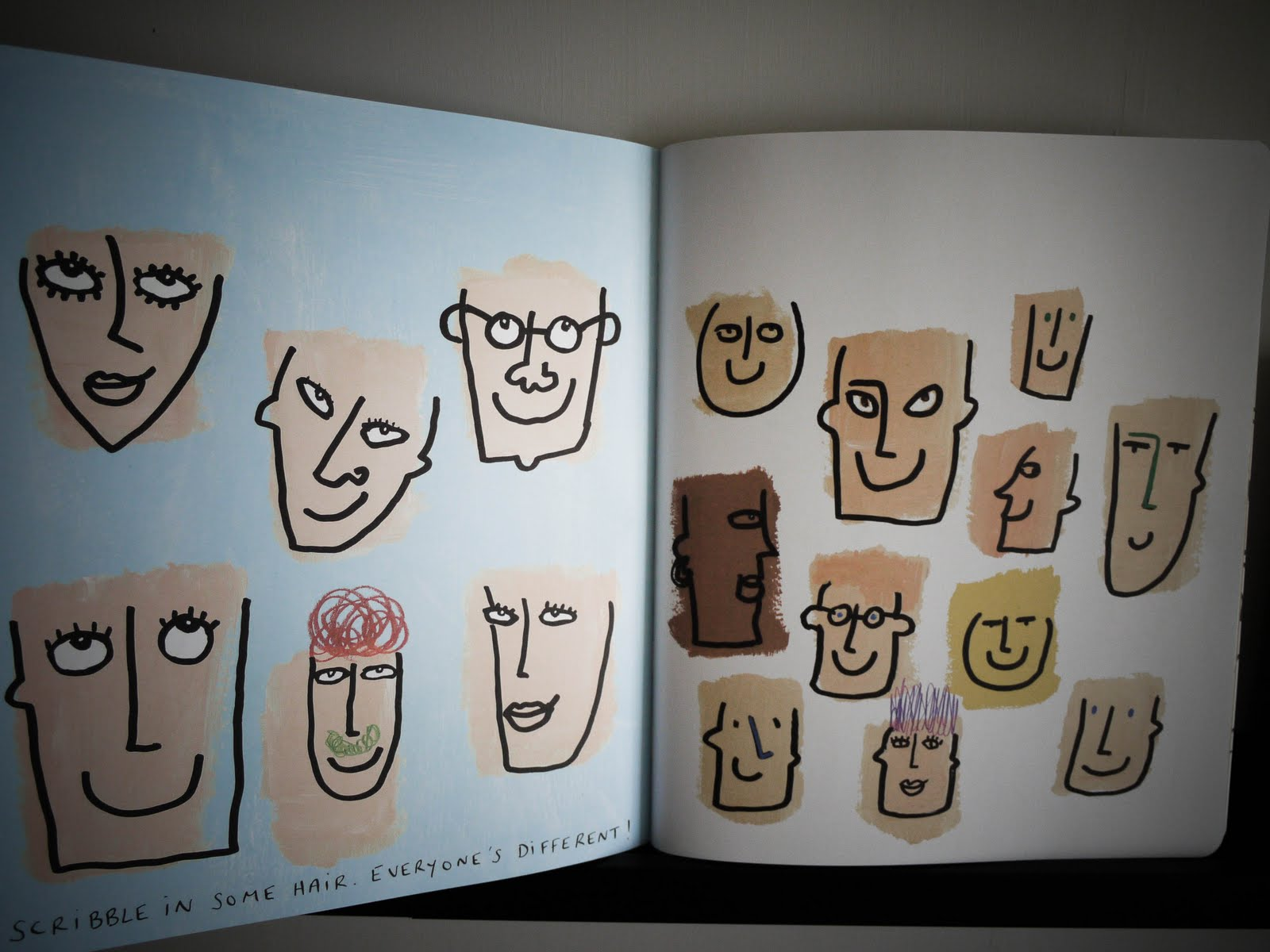 Scribbles Drawing Book : Sponge the scribble book