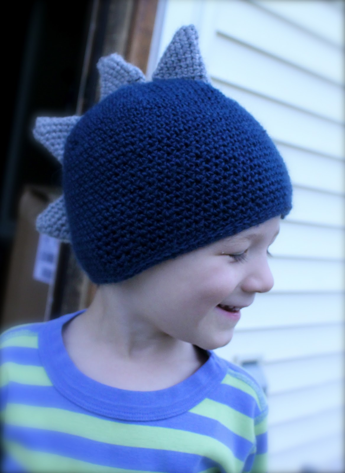 Dinosaur Knit Hat Pattern : Tots and Bottoms: Stegosaurus Dinosaur Hat