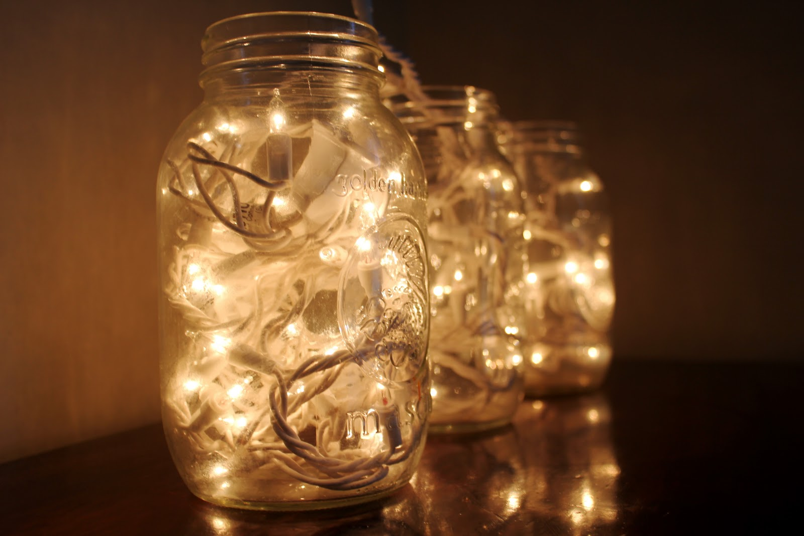 ... one strand of lights and fill jar. The end. Simple. Modern. Cheap