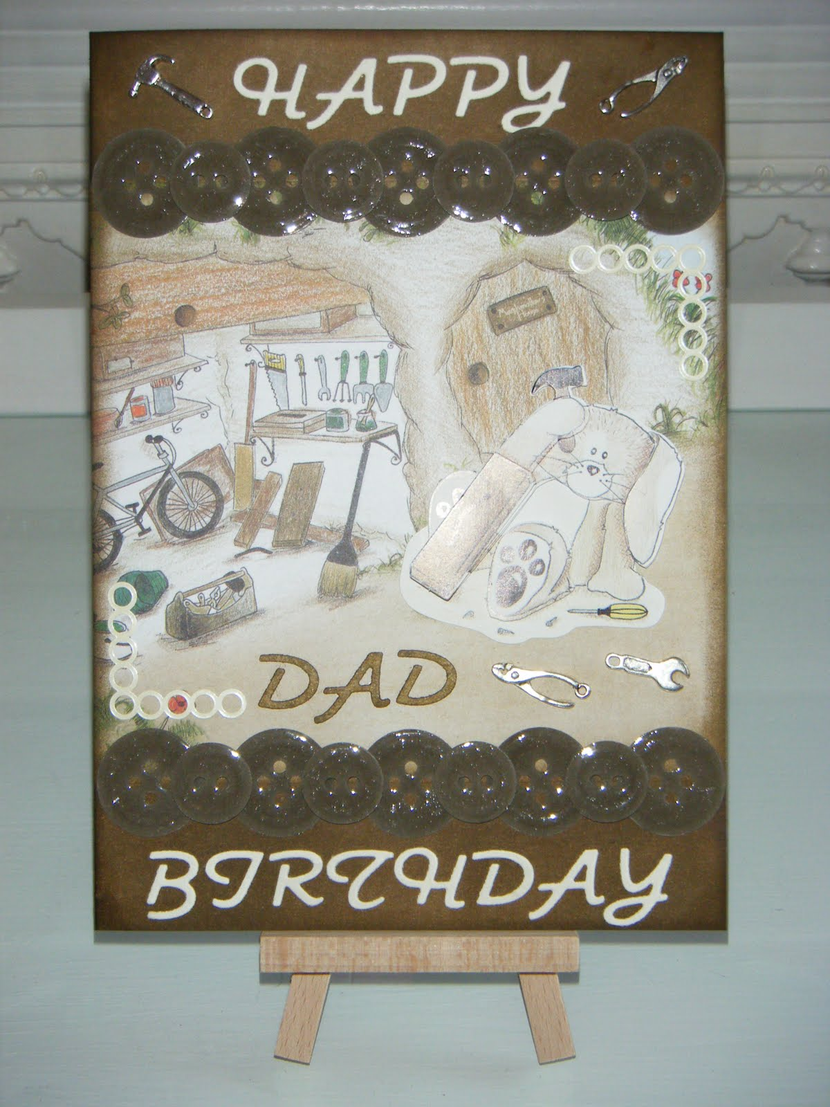 Leia Legweak's Handmade Crafts: DIY Dad Birthday Card