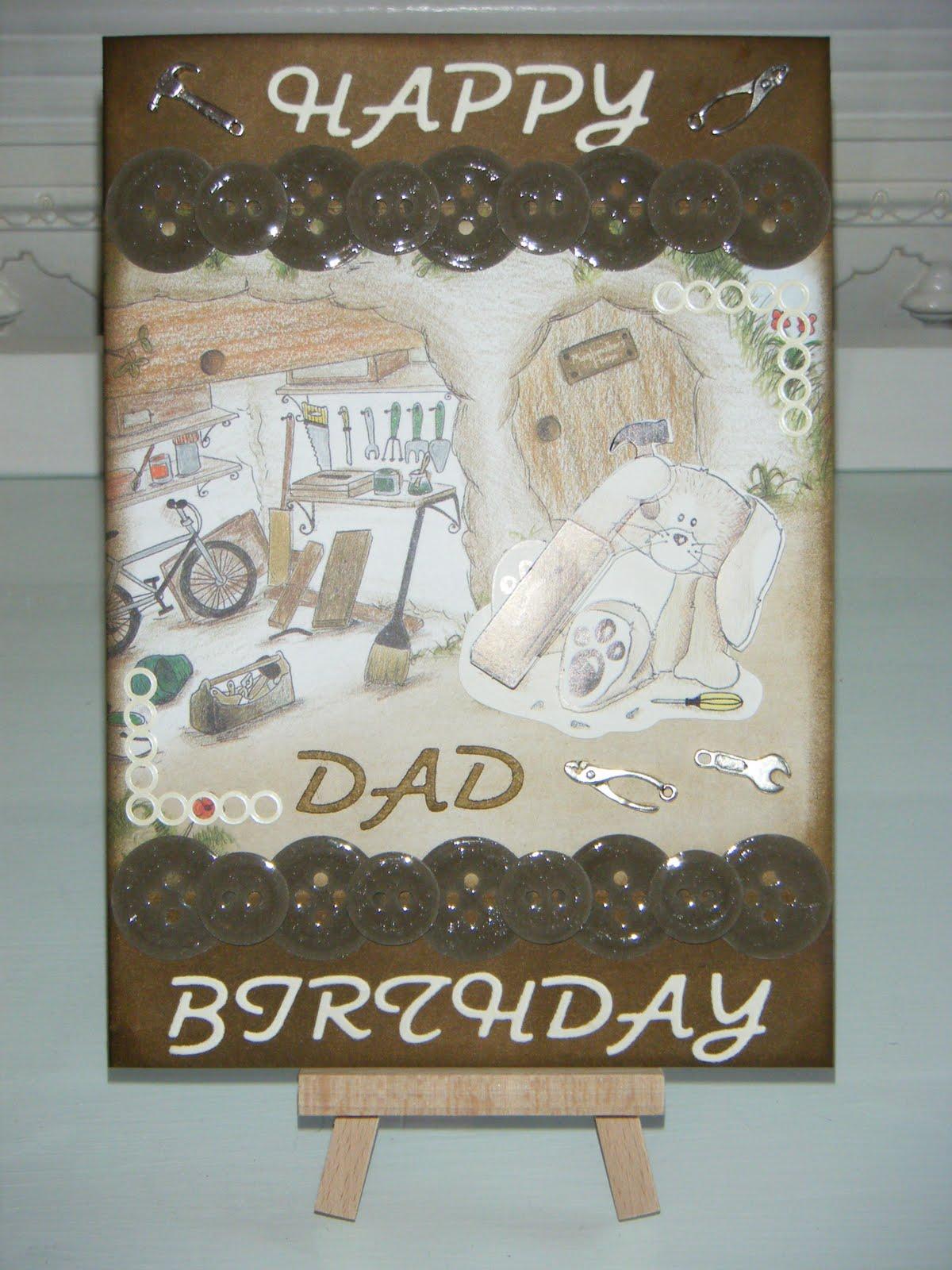Leia Legweaks Handmade Crafts Diy Dad Birthday Card