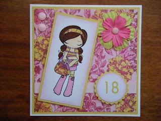 Leia Legweaks Handmade Crafts: 18th Birthday Card