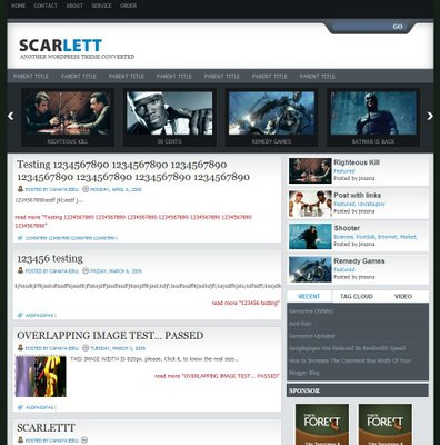 Scarlett Blogger Template
