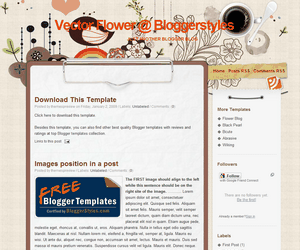 Vector-Flower Blogger Template