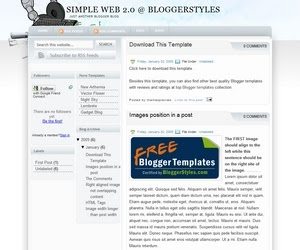Simple Web 2.0 Blogger Template