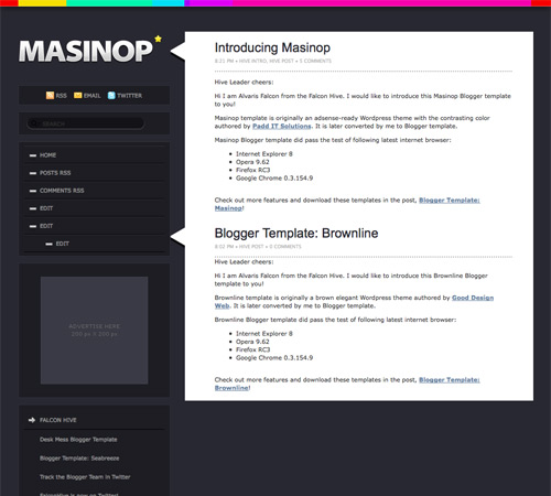 Masinop Blogger Template