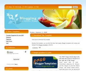 Blogging Blogger Template