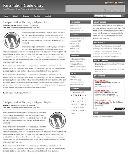 Revolution Code Gray Blogger Template