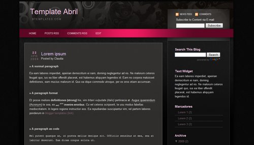 Abril Blogger Template