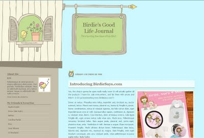 Birdie's Good Life Blogger Template