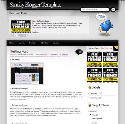 Smoky Blogger Template