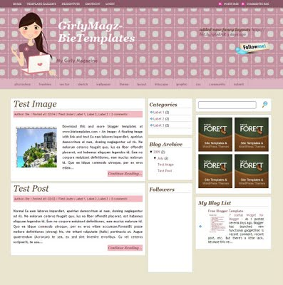Girly Magazine Blogger Template