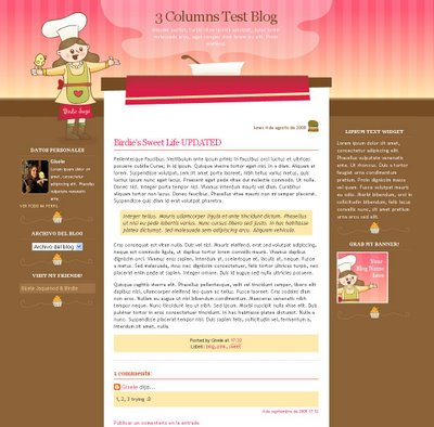 Meet the Chef Blogger Template