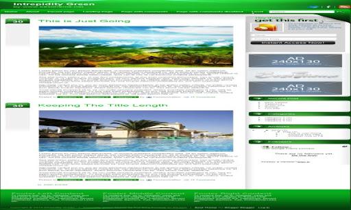 Intrepidity Green Blogger Template