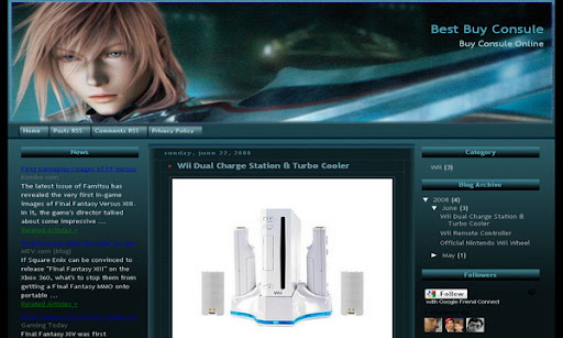 Final Fantasy Xiii Blogger Template