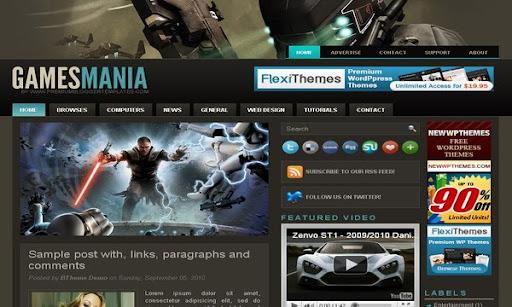 Games Mania Blogger Template