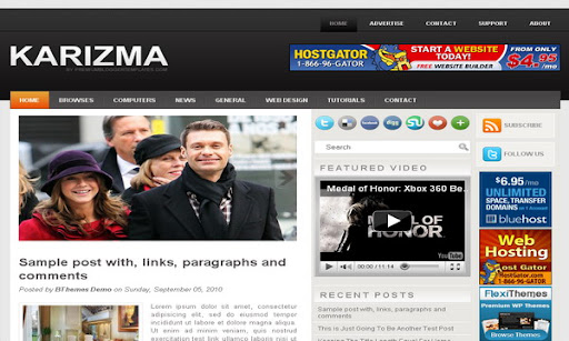 Karizma Blogger Template