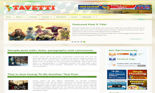 Tavetti Blogger Template