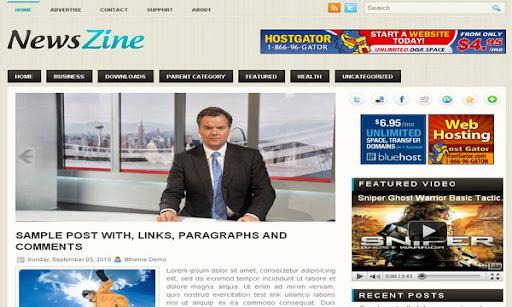 NewsZine Blogger Template