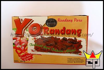 Camilan Padang RENDANG PARU (YO RANDANG)