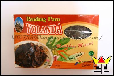 Camilan Padang RENDANG PARU (YOLANDA)