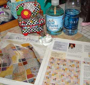 Quiltmaker magazine March/April issue shows pattern I'm working on.