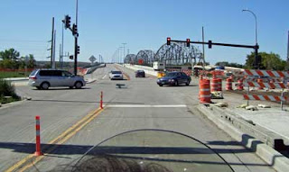 Liberty Memorial Bridge is now open to traffic on one side.