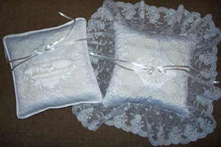 Two wedding ring bearer pillows to choose from.
