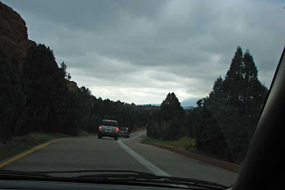 Driving through Garden of the Gods.