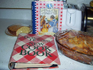 My favorite stand-by: Better Homes and Garden Cookbook and a favorite Gooseberry Patch cookbook.