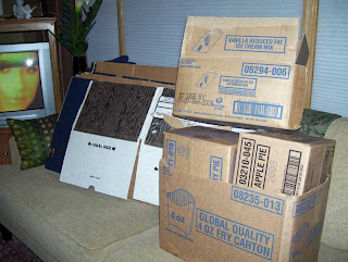 Lots of boxes for packing and sorting.