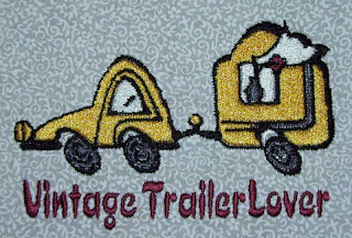 The completed trailer design stitched out.