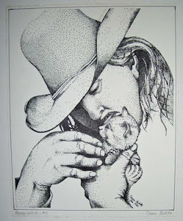 A pen & ink pointilism drawing I made from a photograph.