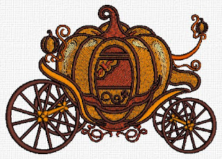 Humorous Travel Trailer takes the form of a pumpkin carriage.