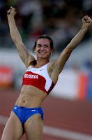 Russian Olympic Gold Medalist Pole Vaulter YELENA ISINBAEVA