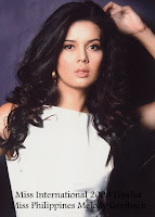 Miss International 2009 Top15 Finalist- Miss Philippines Melody Gersbach