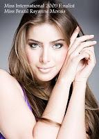 Miss International 2009 Top15 Finalist- Miss Brazil Rayanne Morais