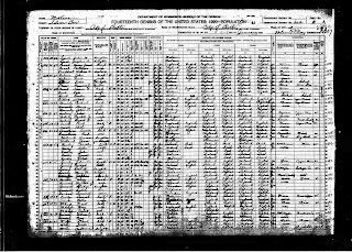 Census Page Butte, MT Lynch Family 1920