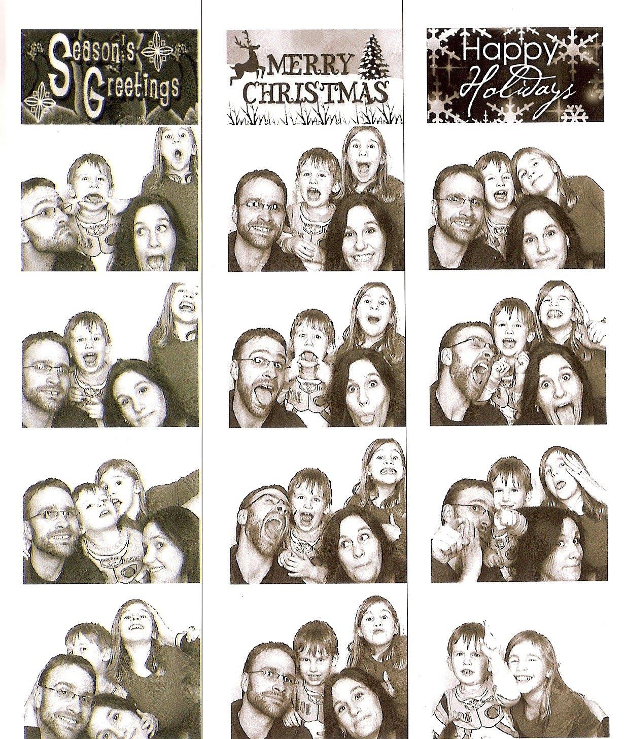 Dolezalek Family: Photo Booth Christmas Card