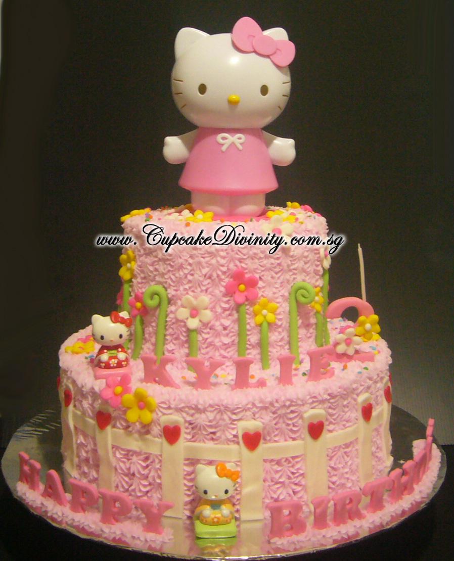 Cupcake Divinity: Maxi 2 Tier Hello Kitty & Kylie Birthday Cake